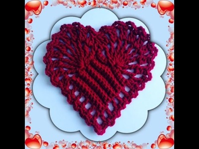 How to Crochet a Heart Pattern #2  │ by ThePatterfamily