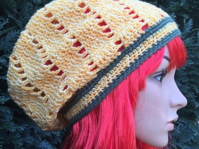 How to Crochet a Slouchy Hat Pattern #15  │ by ThePatterfamily