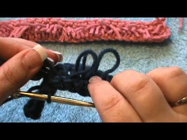 """How to Crochet the """"Fur Stitch"""" also called (Loop Stitch)"""