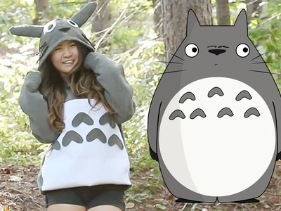 How to | DIY Easy Totoro Costume (No sew) | Halloween