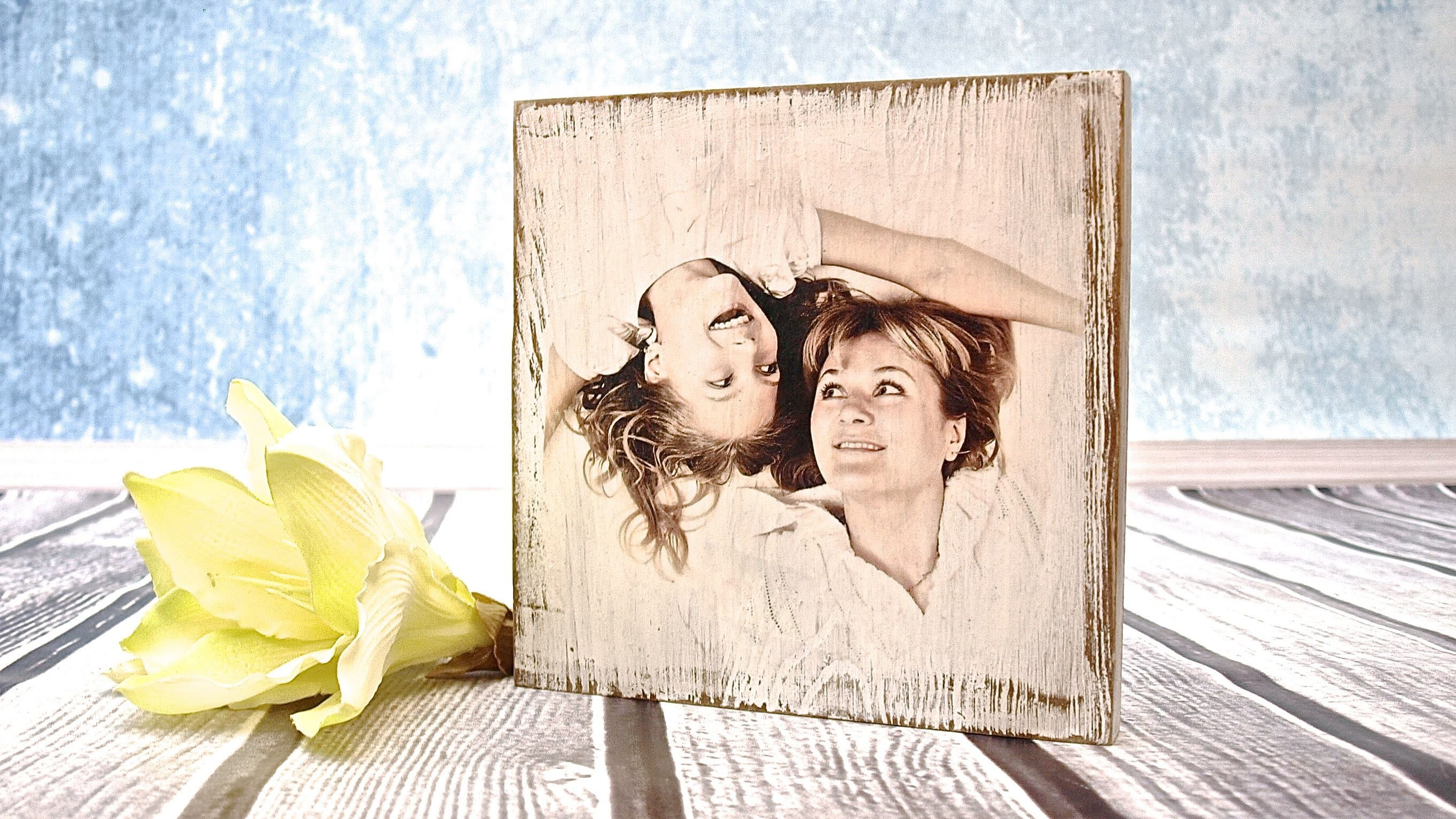 How to do a photo on a wooden board - tutorial DIY