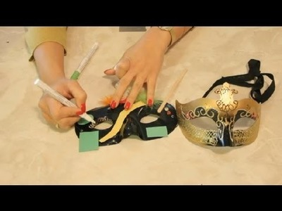 How to Draw Eyelashes on Masquerade Masks : Making Crafts