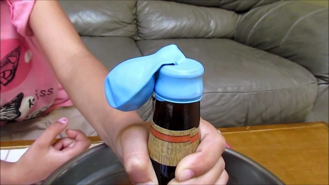 How To Inflate a Balloon with a Bottle & Heat Rises Science Experiment