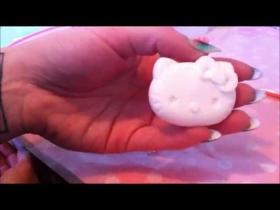 How to Make a Hello Kitty cabochon charm in 10 minutes - for decoden, jewelry, scrapbooking and more