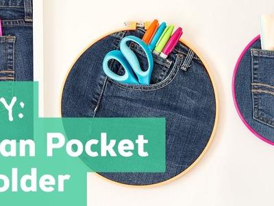 How to Make a Jean Pocket Holder
