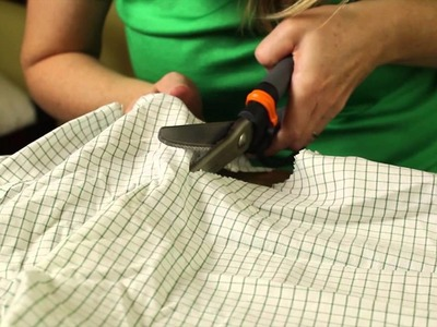 How to Repurpose Men's Shirts : Recycled Crafts & Decor