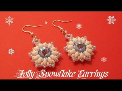 Jolly Snowflake Earrings Beading Tutorial by HoneyBeads1