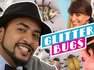 Mad Stuff with Rob – feat. Miss Malini | How to make Glitter Bugs | DIY Craft for Children