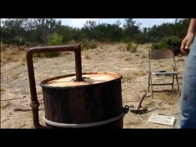 Modern Alchemy: How to make Charcoal in a retort