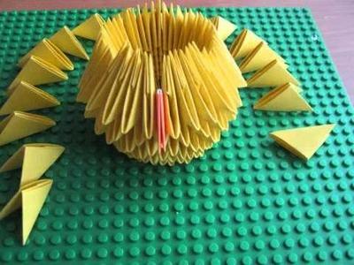 Modular origami chicken