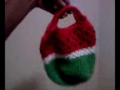 My Crochet Watermelon Bag