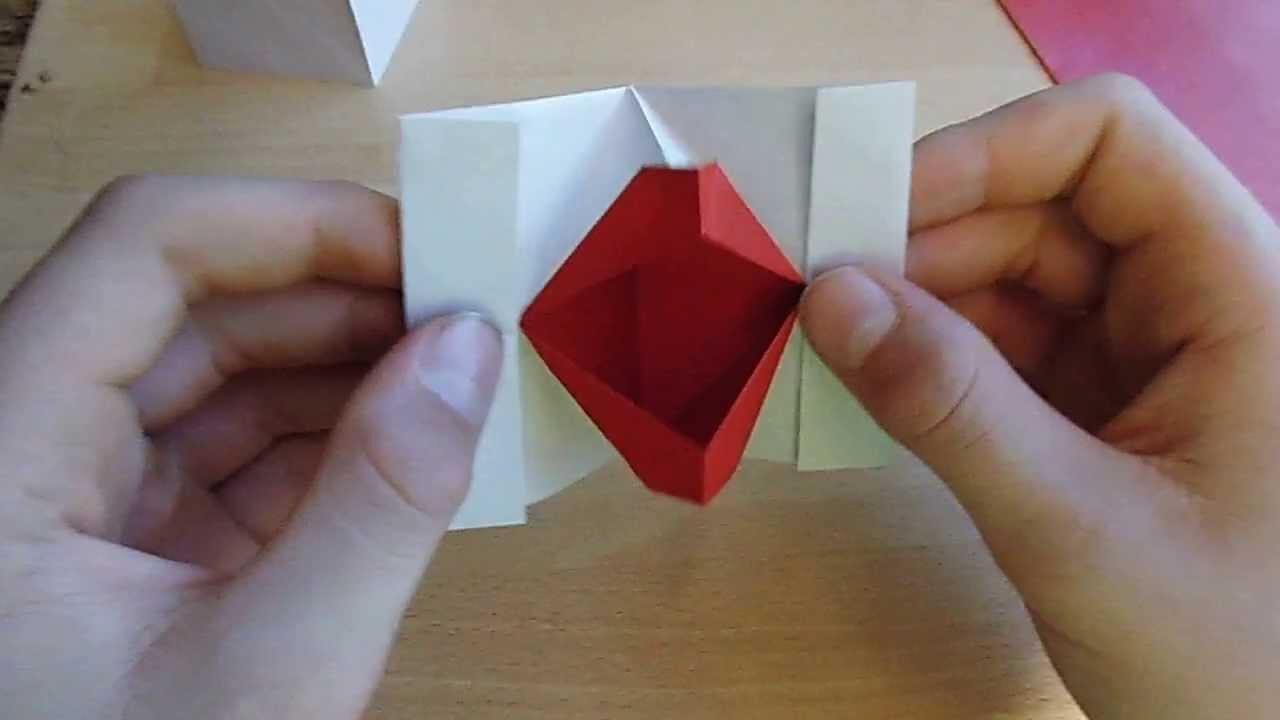 Origami mit Christian: Kussmund (kiss lips, speaking mouth)