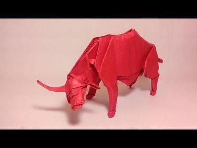Origami Water Buffalo (Nguyen Hung Cuong) - not a tutorial