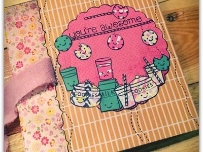Scrapbook 6x6 Mini-Album*Cookie&Cream* Tutorial[deutsch]