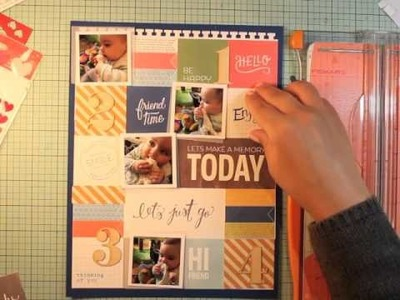 Scrapbook process video 8.5x11 Layout