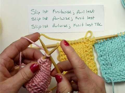 Slip Stitch Edges - Knitting