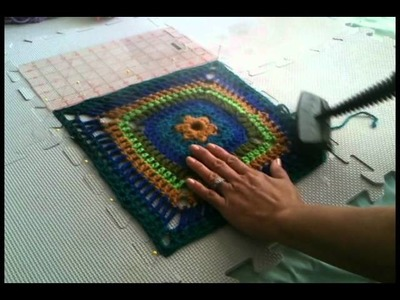 Steam Blocking for Knit.Crochet