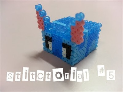 Stitctorial #5 : How to make stitch mini box with mini hama beads?