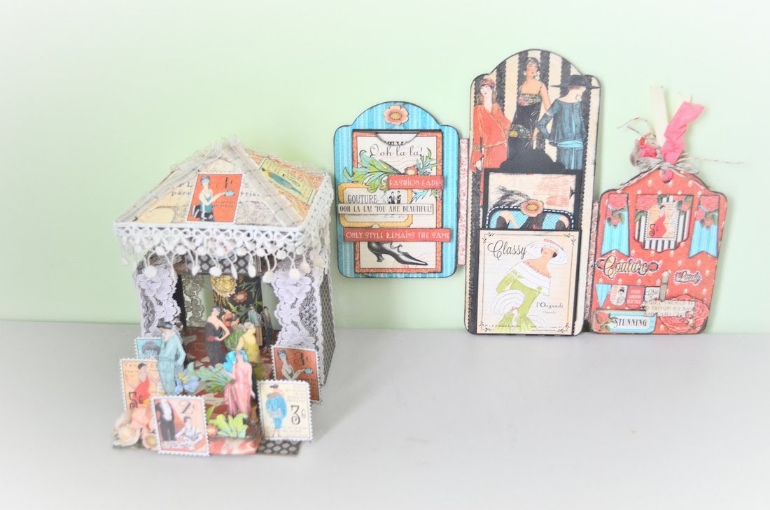 Tag Album and Altered Mini Run Way Stage--Discount Paper Crafts (Start-to-Finish)
