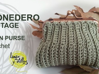 Tutorial Monedero Crochet o Ganchillo Vintage Quadrado