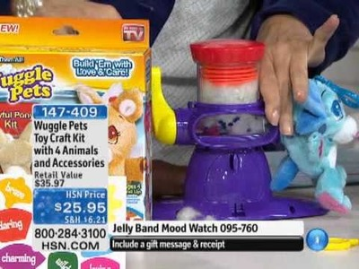 Wuggle Pets Toy Craft Kit  with 4 Animals and Accessories