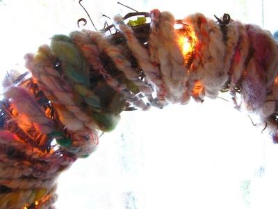Art Yarn Wreath Tutorial