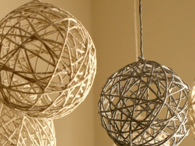 DIY Christmas String Ornaments and Lanterns