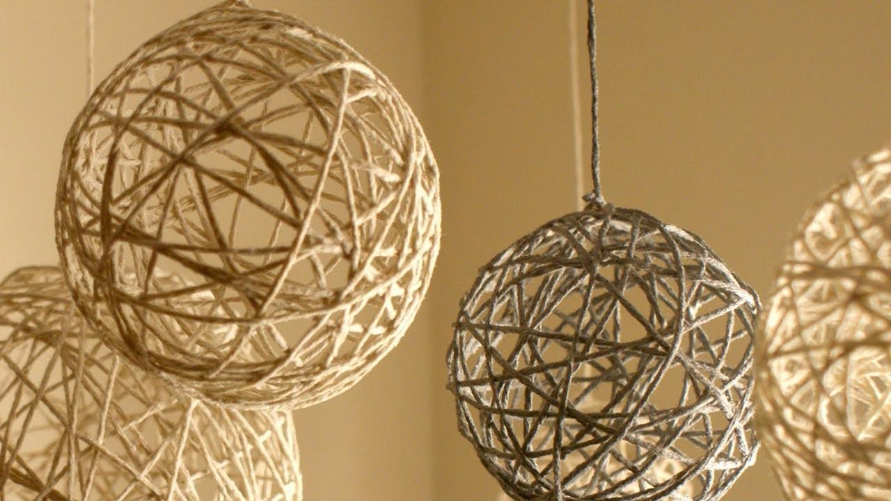 DIY Christmas String Ornaments and Lanterns