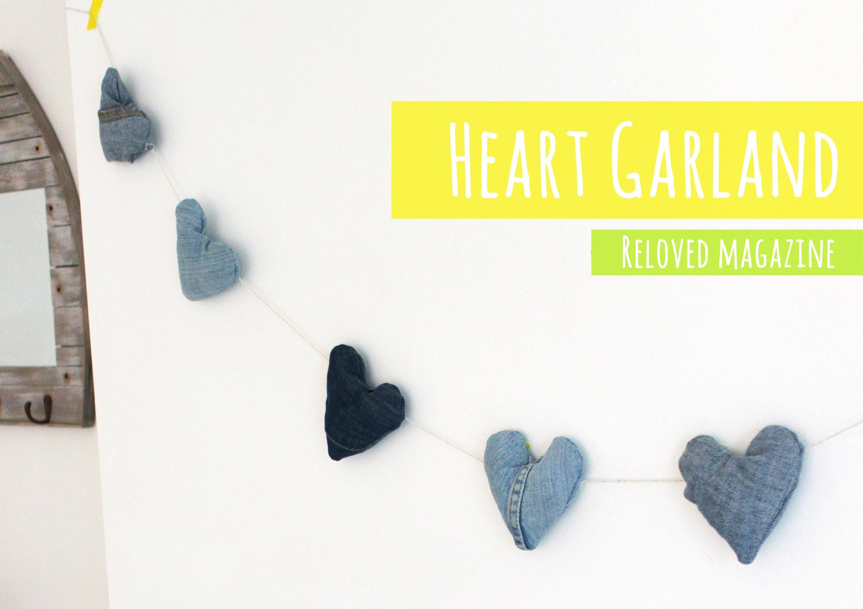 DIY Heart garland for Reloved magazine