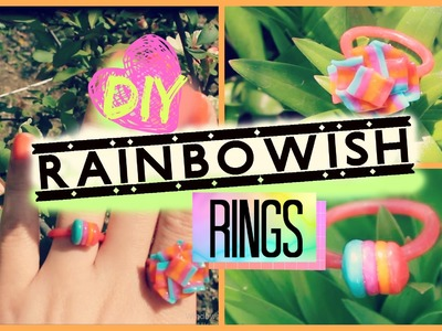 ☞DIY Rings☜ How to Make Rainbowish Rings Out of Polymer Clay