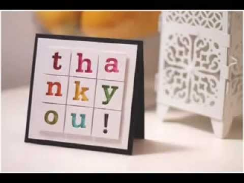 Diy Scrapbook Thank You Card Ideas