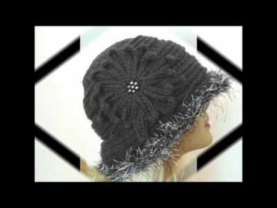 Elegant Textured Gray Crochet Hat Pattern
