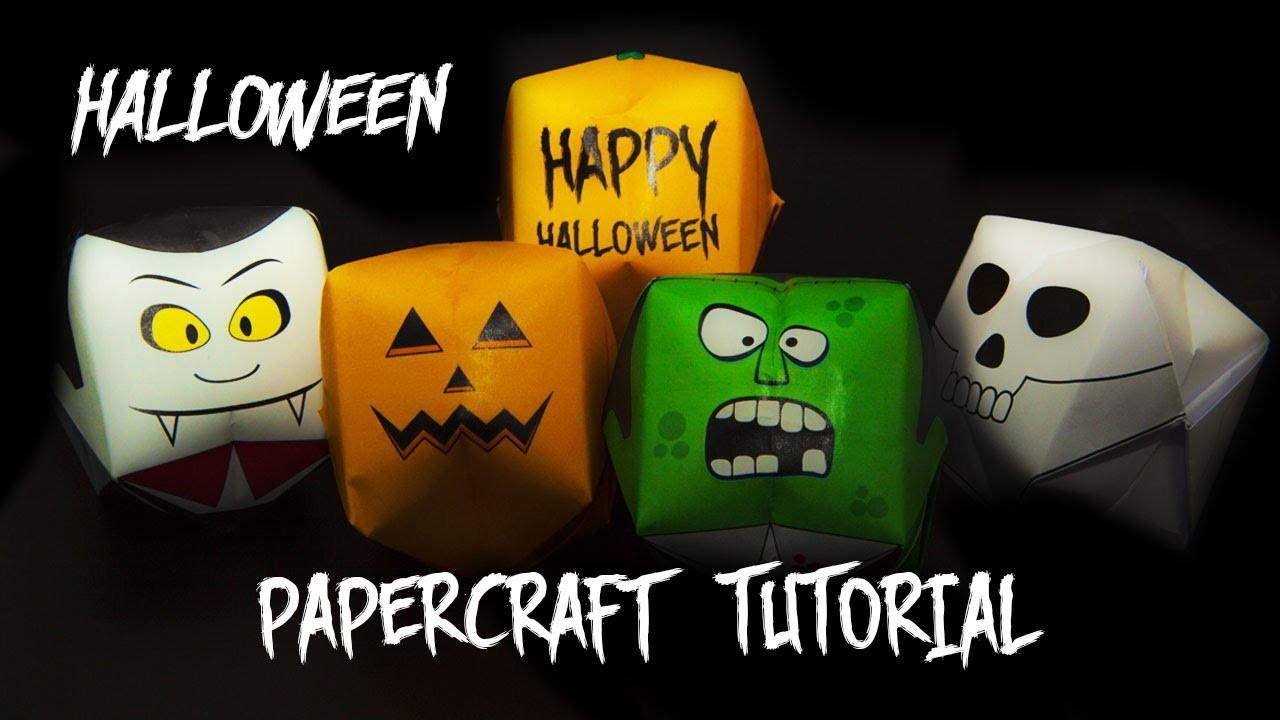 Halloween Fun: How To Make Paper Water Bombs | Papercraft Video Tutorial