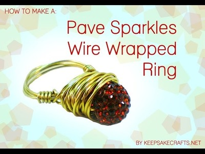 How To Jewelry Making a Pave Bead Wire Wrapped Ring
