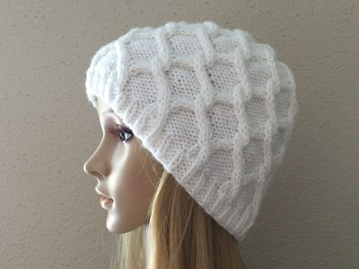 How to Knit a Diamond Cable Hat, Lilu's Knitting Corner video # 7