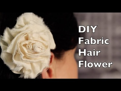 How To Make A Hair Flower | Fabric Rose