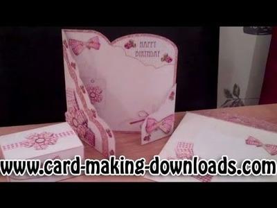 How To Make A Ornate Wrap Around Gatefold Card www card making downloads com