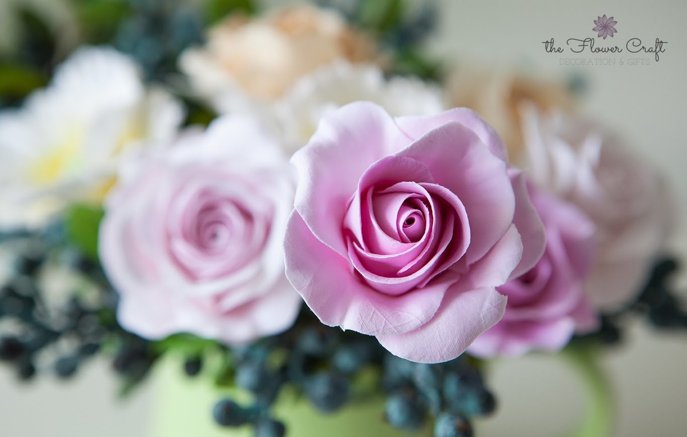 How to make a rose clay flower (for beginners)