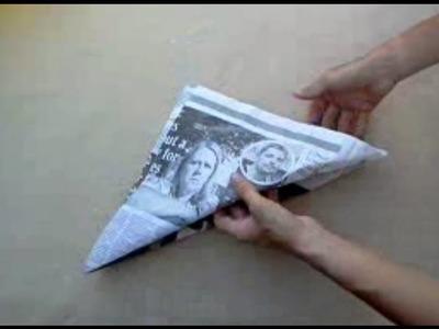 How to make an origami hat - Cómo hacer un sombrero de papel