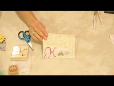 How to Make Felt Christmas Designs With Rubber Stamps : Christmas Crafts