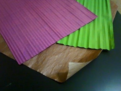 How to make large two color origami paper by Tim Rickman