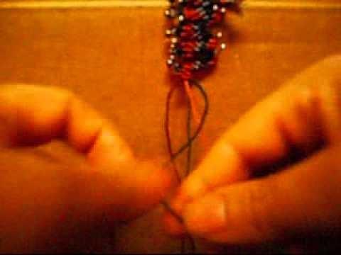 How To Make Macramé Beaded Earrings-2