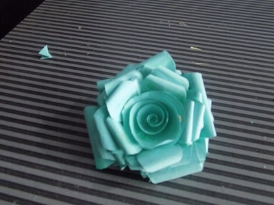 How to make paper rose- at home easy- 2015 Step By step tutorials
