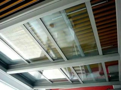 LOOM CRAFTS RETRACTABLE FLAT SLIDING ROOF WITH GLASS.wmv