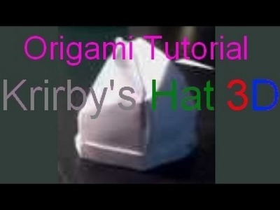 Origami Tutorial - 3D Kirby's Hat