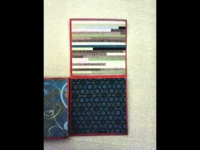 Scrapbook 4x4 Mini Album with one 12x12 sheet cardstock