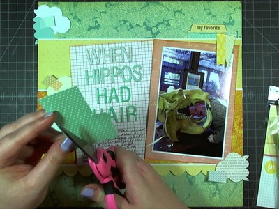 "Scrapbook Layout: When Hippos Had Hair, 12""x12"""