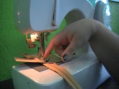 Sewing Tutorial Putting A Zipper In Paper for Card or Scrapbook