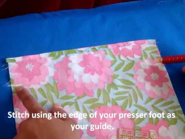 Simple Drawstring Bag Sewing Tutorial