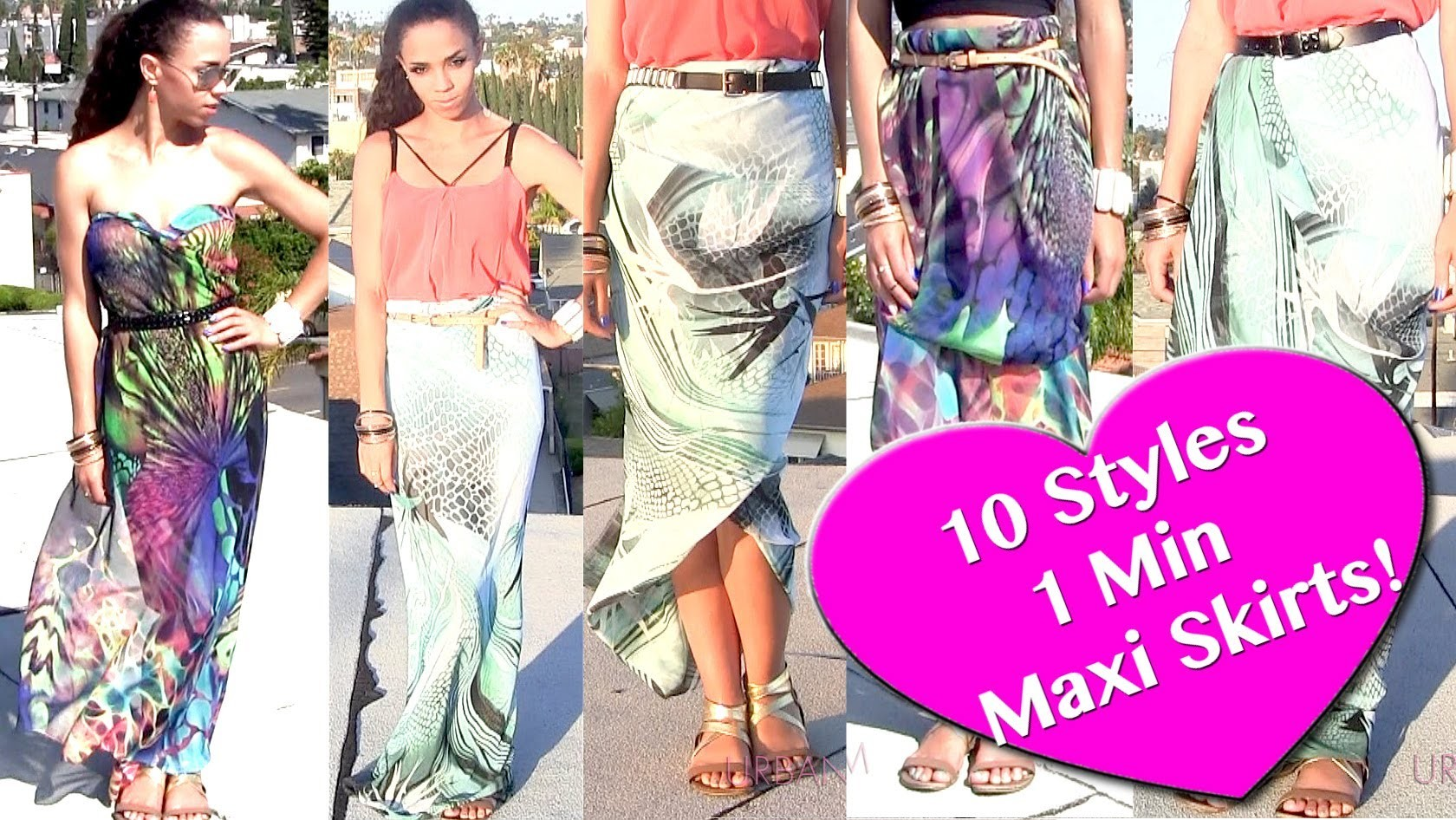10 Ways to Wear 1 Scarf As a Skirt & Dress! DIY Maxi Skirt NO SEW in 1 Min